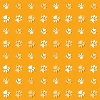 Vector illustration of animals paws print on yelow background - vector gratuit #127210