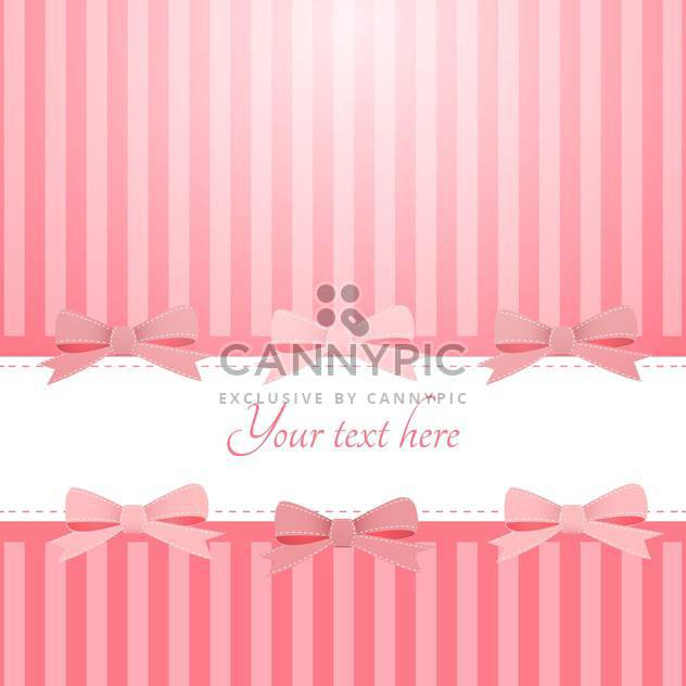Vector pink background with bows and text place - Free vector #127230