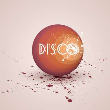 Vector illustration of retro disco ball on pink background - Free vector #127260