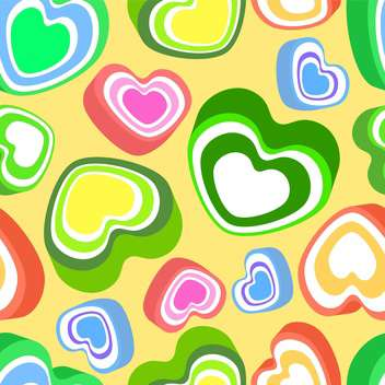 Vector background with colorful hearts for valentine card - Free vector #127280