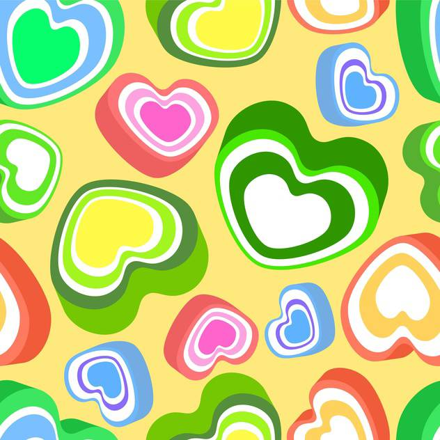 Vector background with colorful hearts for valentine card - vector gratuit #127280