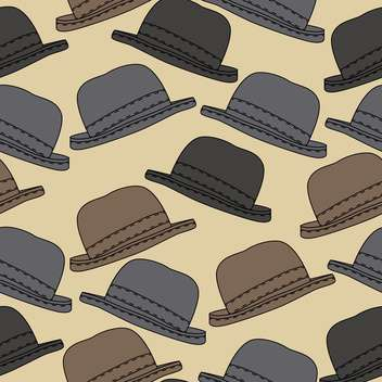 Vector background with vintage male hats - vector #127360 gratis