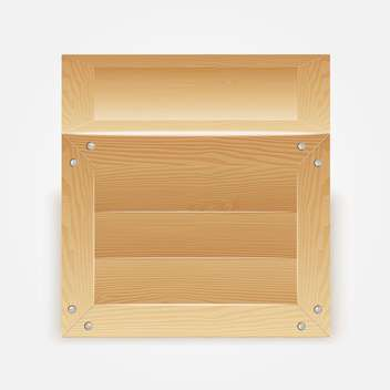 Vector illustration of wooden box on white background - vector gratuit #127370