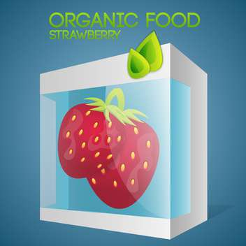 Vector illustration of strawberries in packaged for organic food concept - vector gratuit #127380