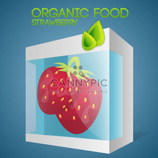 Vector illustration of strawberries in packaged for organic food concept - Free vector #127380