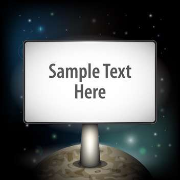 vector illustration of planet with board and text place - vector #127460 gratis