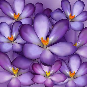 Seamless pattern with violet flowers - vector #127480 gratis