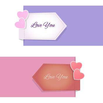 Valentine's Day design elements and banners - vector gratuit #127500