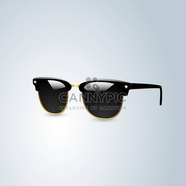 vector illustration of black sunglasses on white background - Free vector #127630