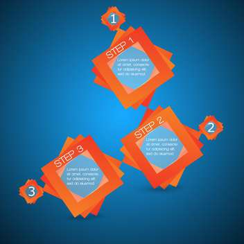 Vector banners with three steps on blue background - vector gratuit #127640