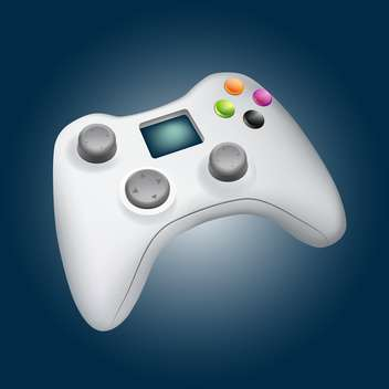 vector illustration of game controller on blue background - vector gratuit #127740