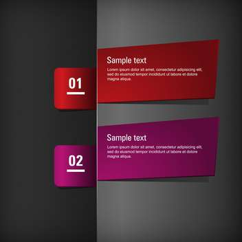 vector set of two banners on dark background with text place - vector gratuit #127760