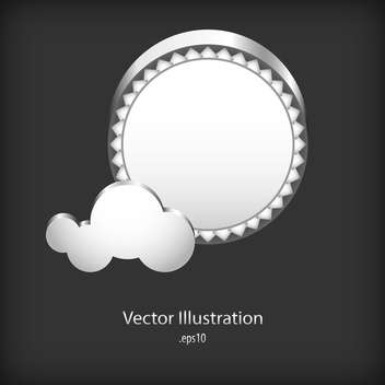 Abstract speech clouds of gear wheels on black background - vector #127770 gratis