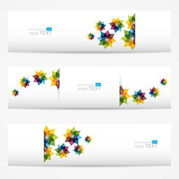 vector collection of floral colorful banners - vector #127780 gratis