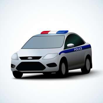 Vector illustration of police car on white background - vector gratuit #127830