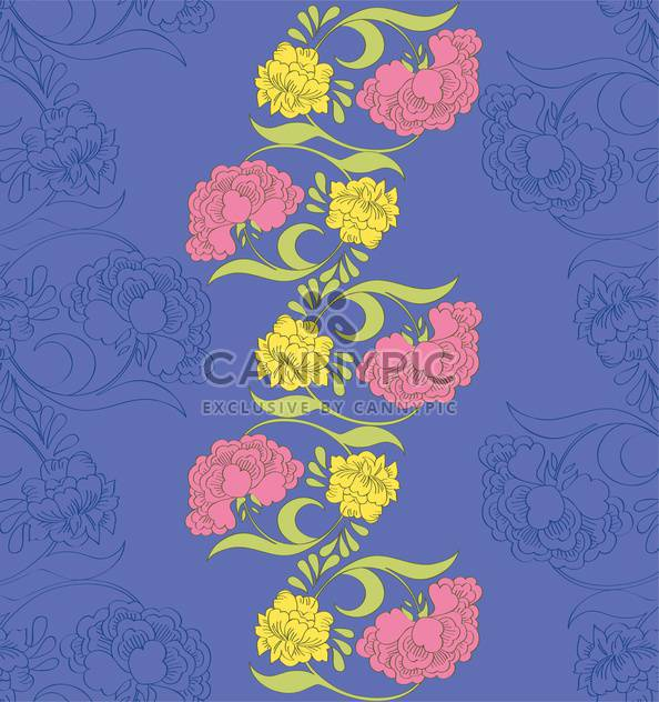 Vector floral seamless pattern with fantasy blooming flowers - Free vector #127860
