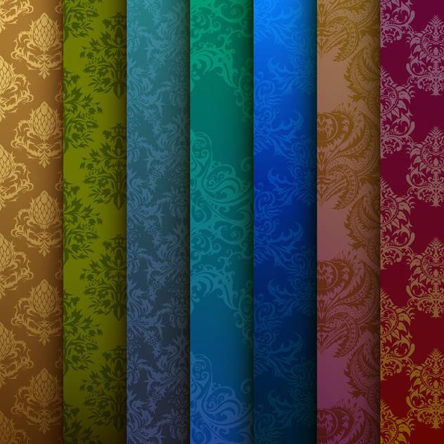 vector illustration of multi-colored curtains background - vector gratuit #127890