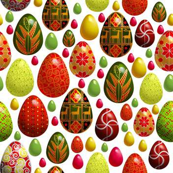 holiday background with easter eggs - vector gratuit #128060