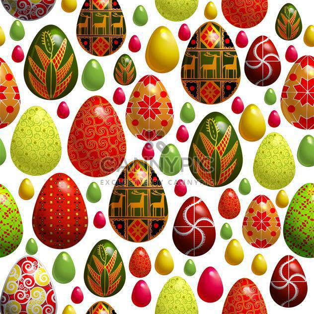 holiday background with easter eggs - Free vector #128060
