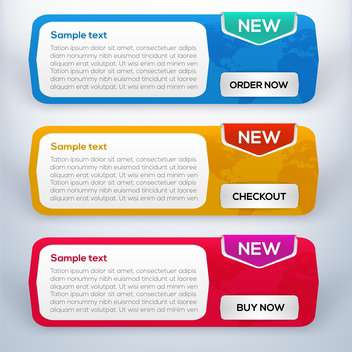 Vector web banners set with space for text - Free vector #128130