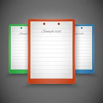 Vector empty notepads with space for text - Free vector #128160