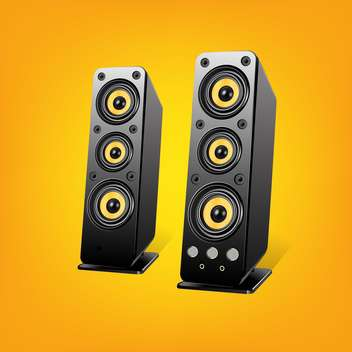 Loudspeakers vector Illustration, on yellow background - бесплатный vector #128190