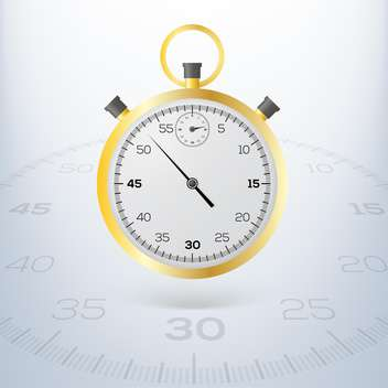 yellow stopwatch vector icon - vector gratuit #128230