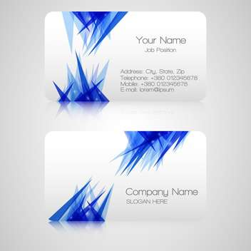 Vector business cards on white background - vector #128280 gratis