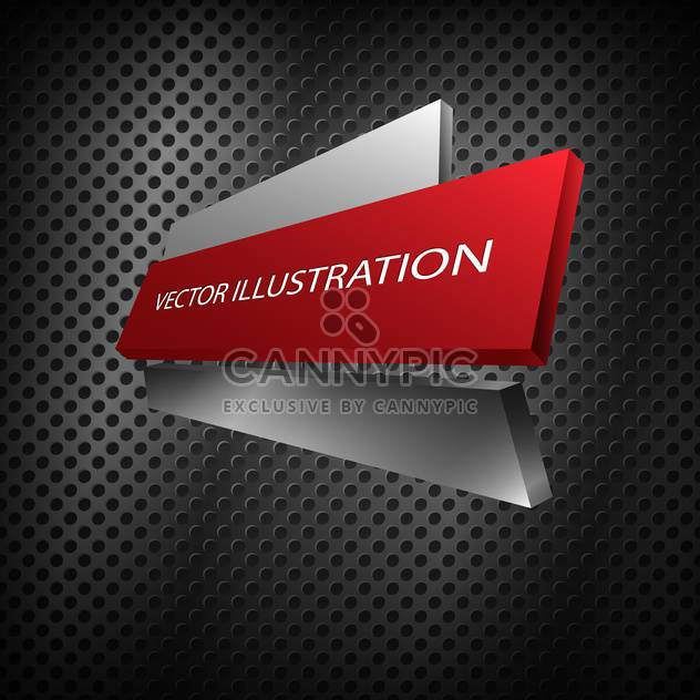 red vector metallic banner - Free vector #128290