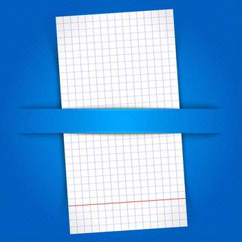 White paper sheet on blue background - vector gratuit #128310