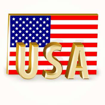 United States Flag vector icon - vector gratuit #128340