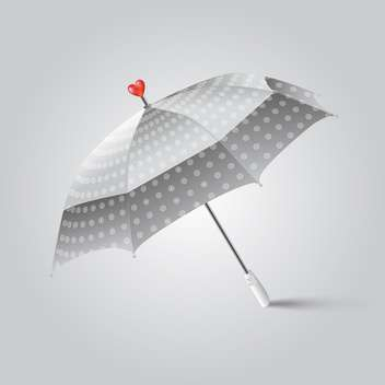 Umbrella with red heart on top on white background - Kostenloses vector #128390