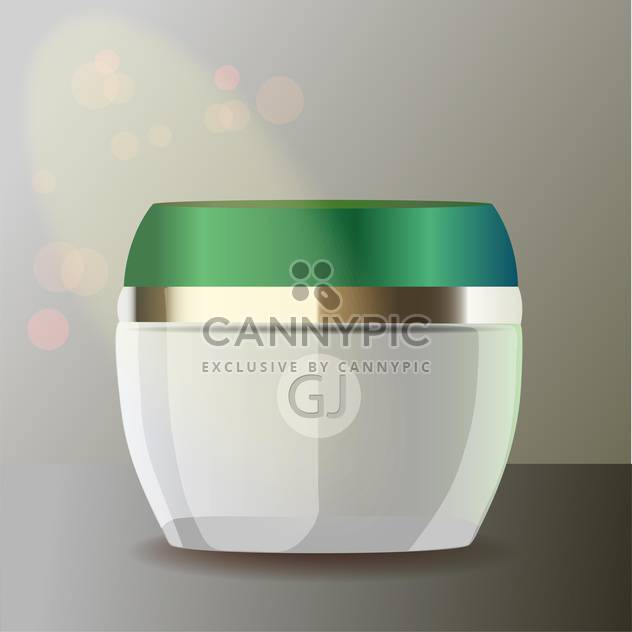 jar with cream for beauty and health - Free vector #128400