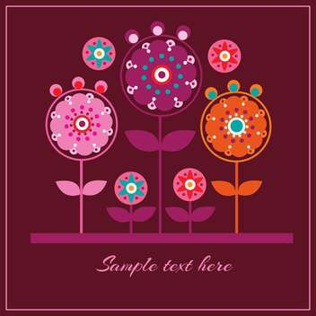Floral vector pattern background - vector gratuit #128410