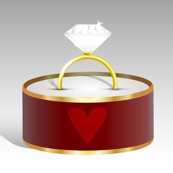 Vector illustration of a diamond ring. - vector gratuit #128430