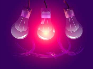 Vector stylish conceptual digital light bulbs design - Free vector #128460
