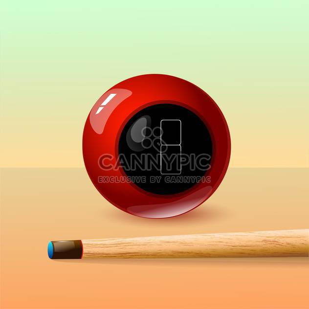 Vector illustration of 8 ball and stick - Free vector #128480