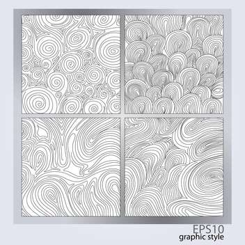 Vector set of abstract monochrome backgrounds - Kostenloses vector #128490