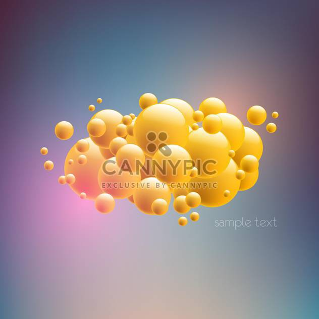 Abstract vector background with yellow bubbles - Free vector #128520