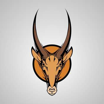 Vector illustration of Antilope Graphic Mascot Head with Horns - vector gratuit #128530