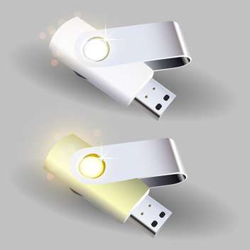 Vector illustration of flash drives - vector gratuit #128550