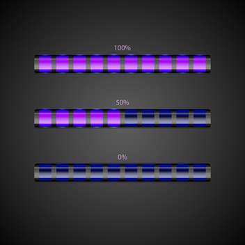 Vector set of loading bars. - vector gratuit #128560