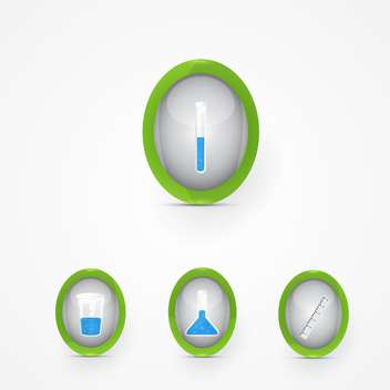Vector set of science icons on white background - Free vector #128590