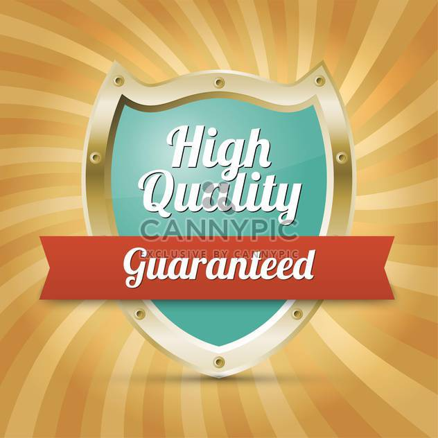 Vector shield lable with text high quality Guaranteed - Kostenloses vector #128620