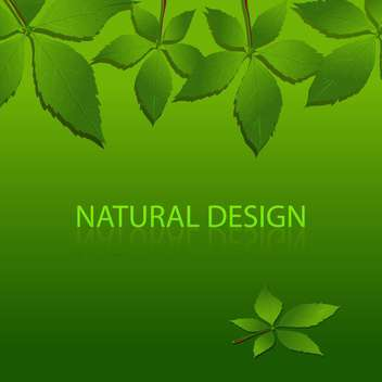Vector green background with natural design and sample text - Free vector #128640