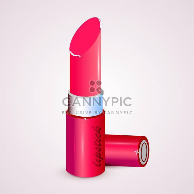 Vector illustration of pink lipstick on white background - Free vector #128750