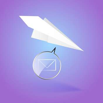 Paper airplane message vector illustration - vector #128840 gratis