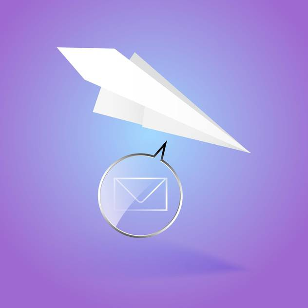 Paper airplane message vector illustration - Free vector #128840