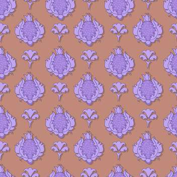 Vintage vector illustration of seamless floral pattern. - Free vector #128940