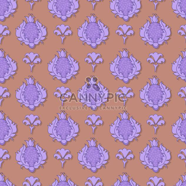 Vintage vector illustration of seamless floral pattern. - Kostenloses vector #128940